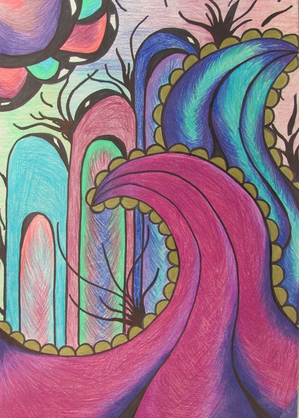 colorful organic line design