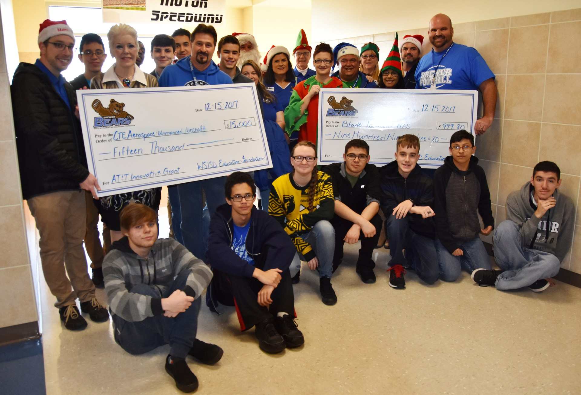 AT&T awarded a $25,000 grant to fund STEM grants at Brewer High School.