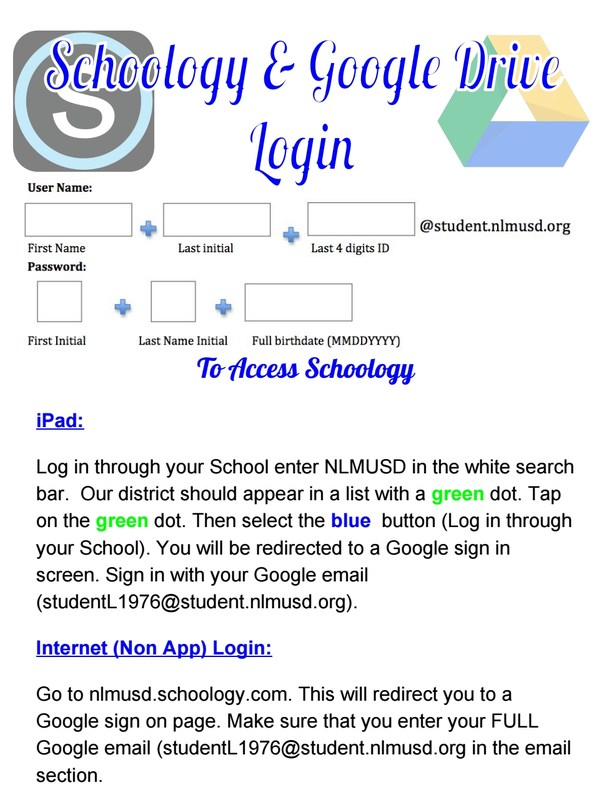 Schoology and Google Drive Login Featured Photo