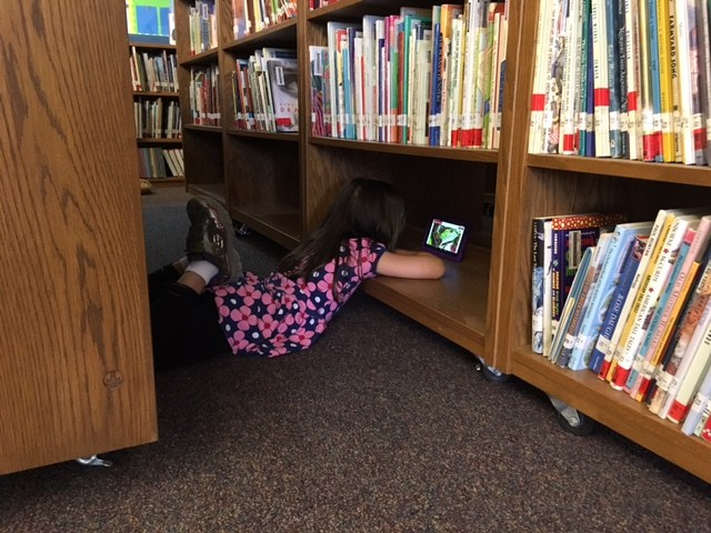 We find all kinds of places to read!