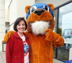 Mrs. Ward with tiger