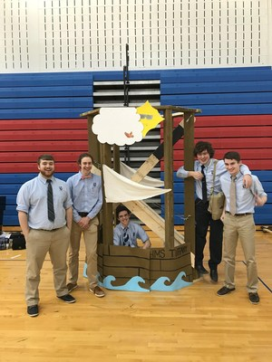 Students with Catapult