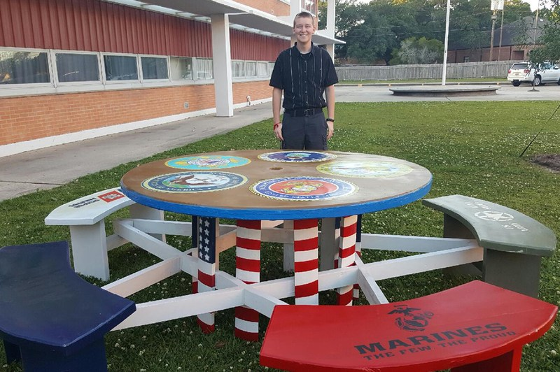 Student Builds and Donates Veterans Day Table Thumbnail Image