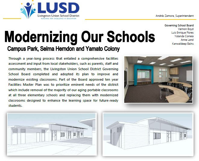 School Modernization Flyer