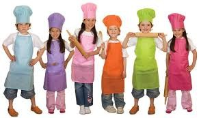 children dressed as chefs
