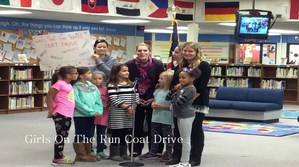 Girls on the Run Coat Drive Teachers and Students