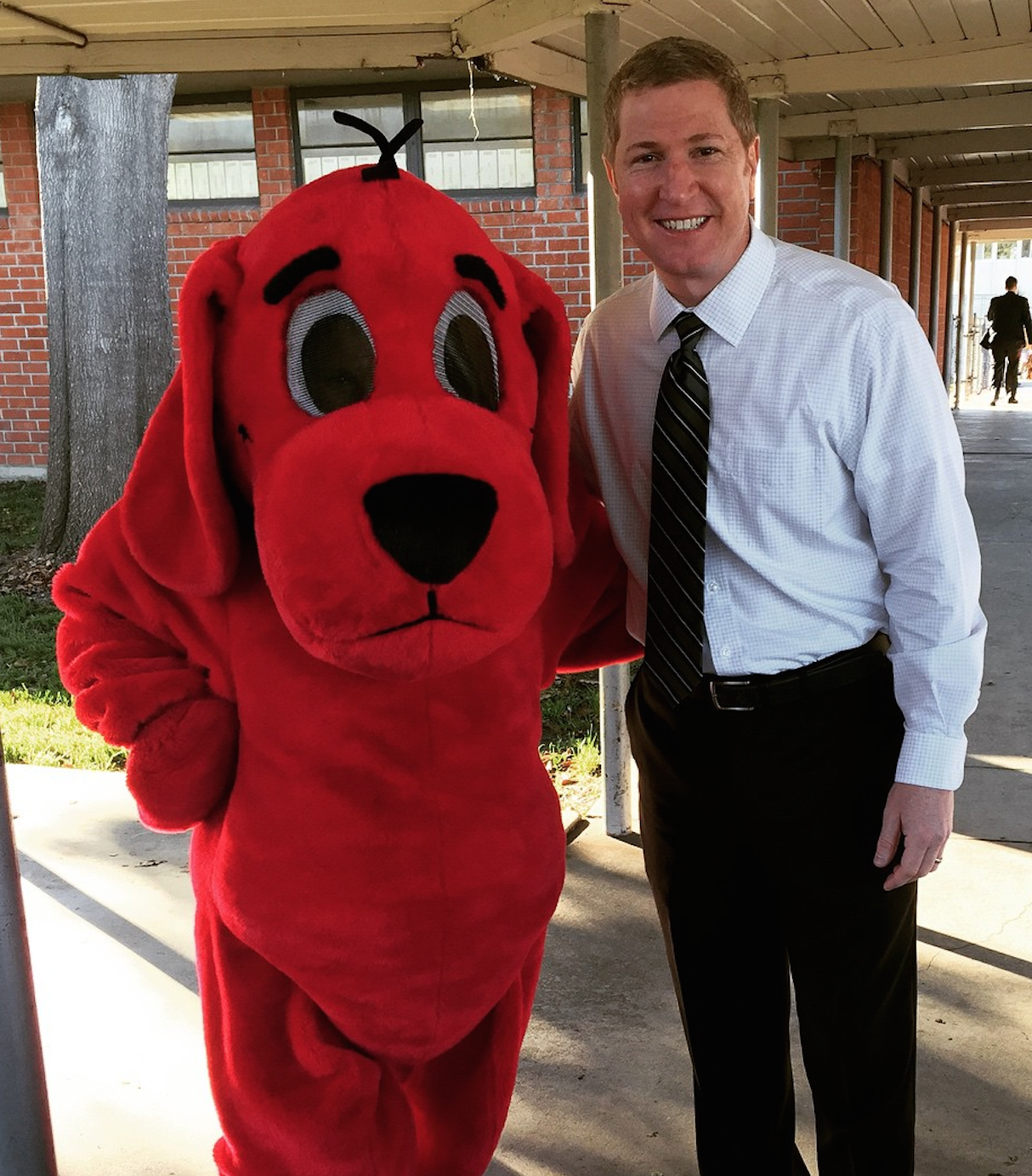 Dr. Blackwell and Clifford the Big Red Dog