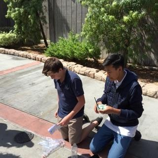Yesterday the 8th graders went to Knott's Berry Farm to celebrate Physics Day.  Some of the activities that the students did included using protractors to measure the height of the rides and using accelerometers to measure the g-force of certain rides in the park.