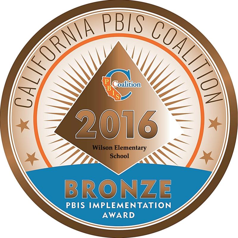Wilson Elementary School Is A CA PBIS Coalition Award Winning School! Featured Photo