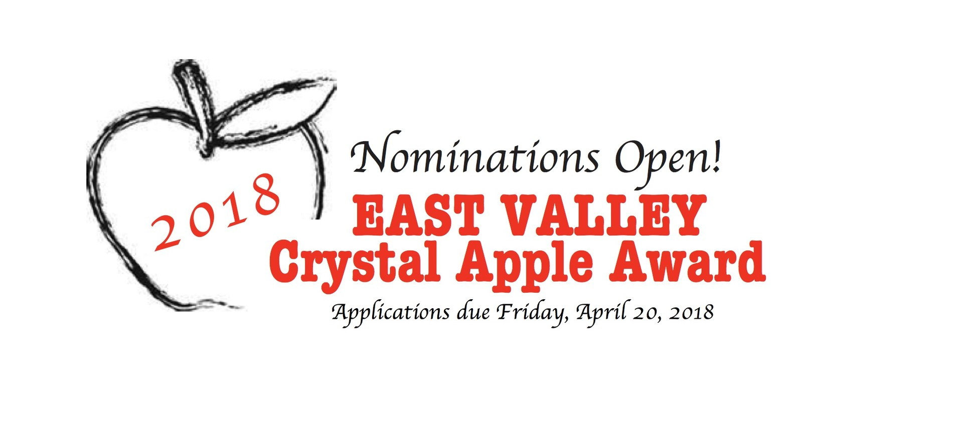 Crystal Apple Nominations are now open!