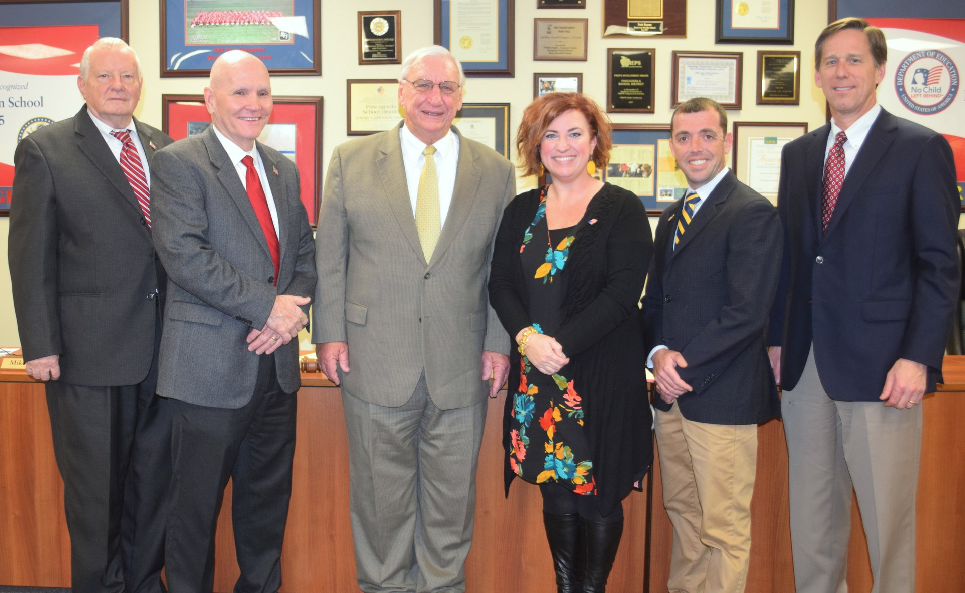 Mike Concannon, Sonny Backs, Dan Marks, Tracy Jackson-Wilson and Matthew Johnson and Kelly Sessoms, board attorney.