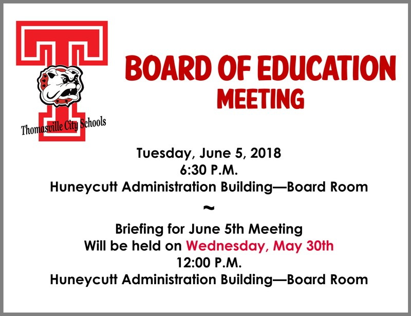June 5th Board Meeting Announcement
