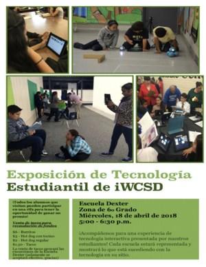 Exposicion estudiantil de tecnologia de WCSD