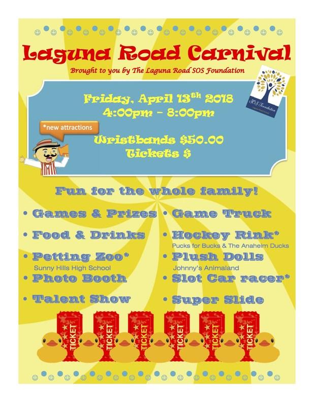 Laguna Road School Carnival April 13th! Featured Photo