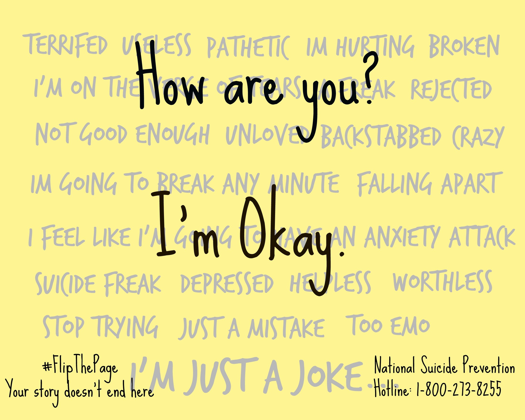 It says, 'How are you? I'm Okay.'