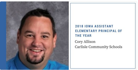 Cory Allison Named Assistant Principal of the Year