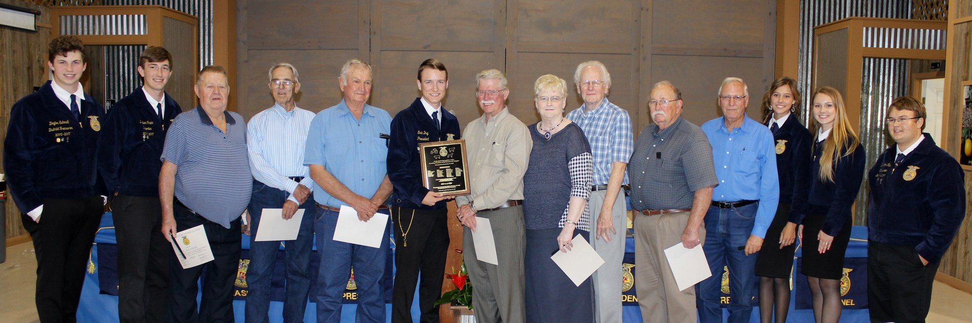 Navarro FFA recognized its founding members at the 2016-2017 Navarro FFA Chapter Awards Banquet in honor of our 60 year anniversary!
