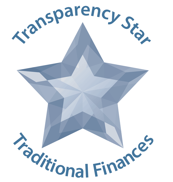 Transparency Star Traditional Finances logo with crystal star shape