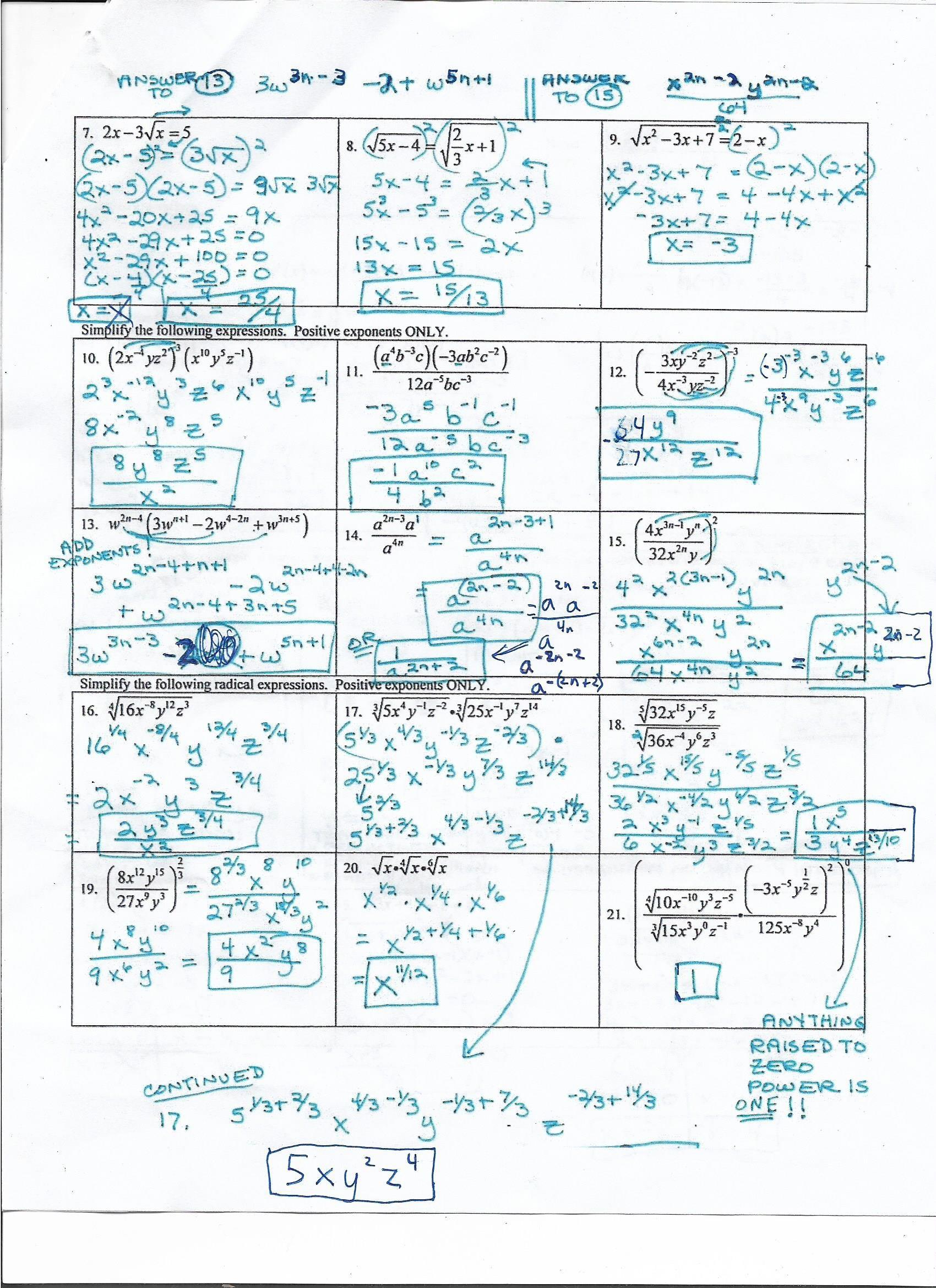 pre algebra final test with answer key