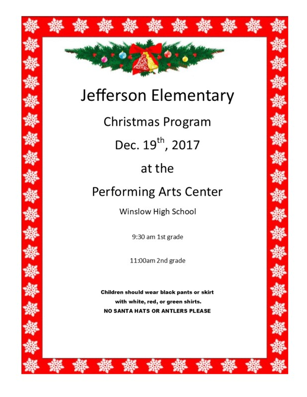 Jefferson Elementary School Christmas Program Featured Photo