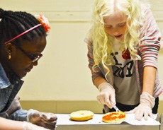 Camp Wanaqua Bagel Pizza Making