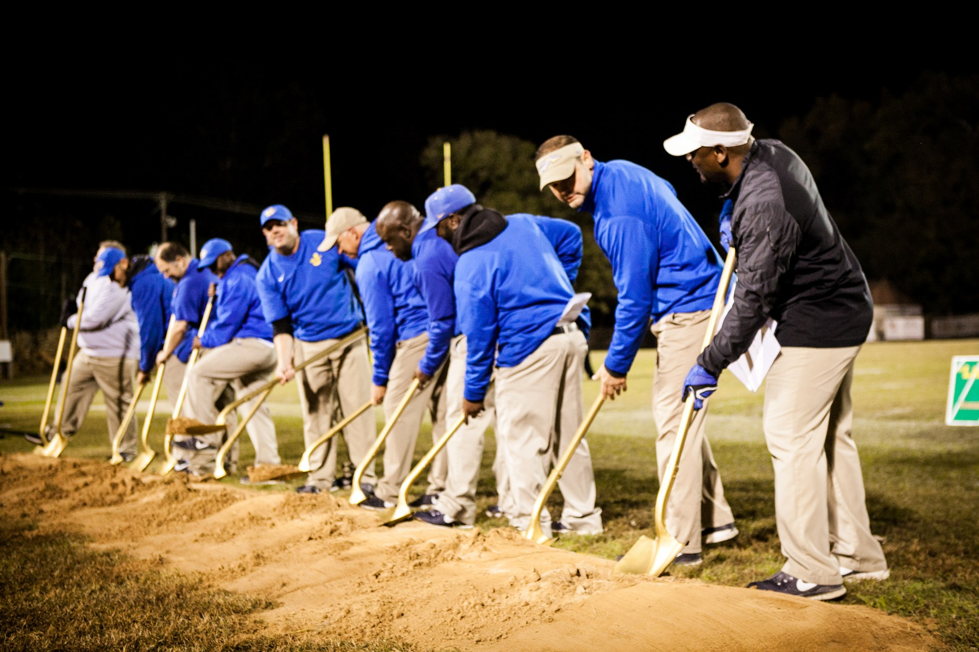 Coaches breaking ground