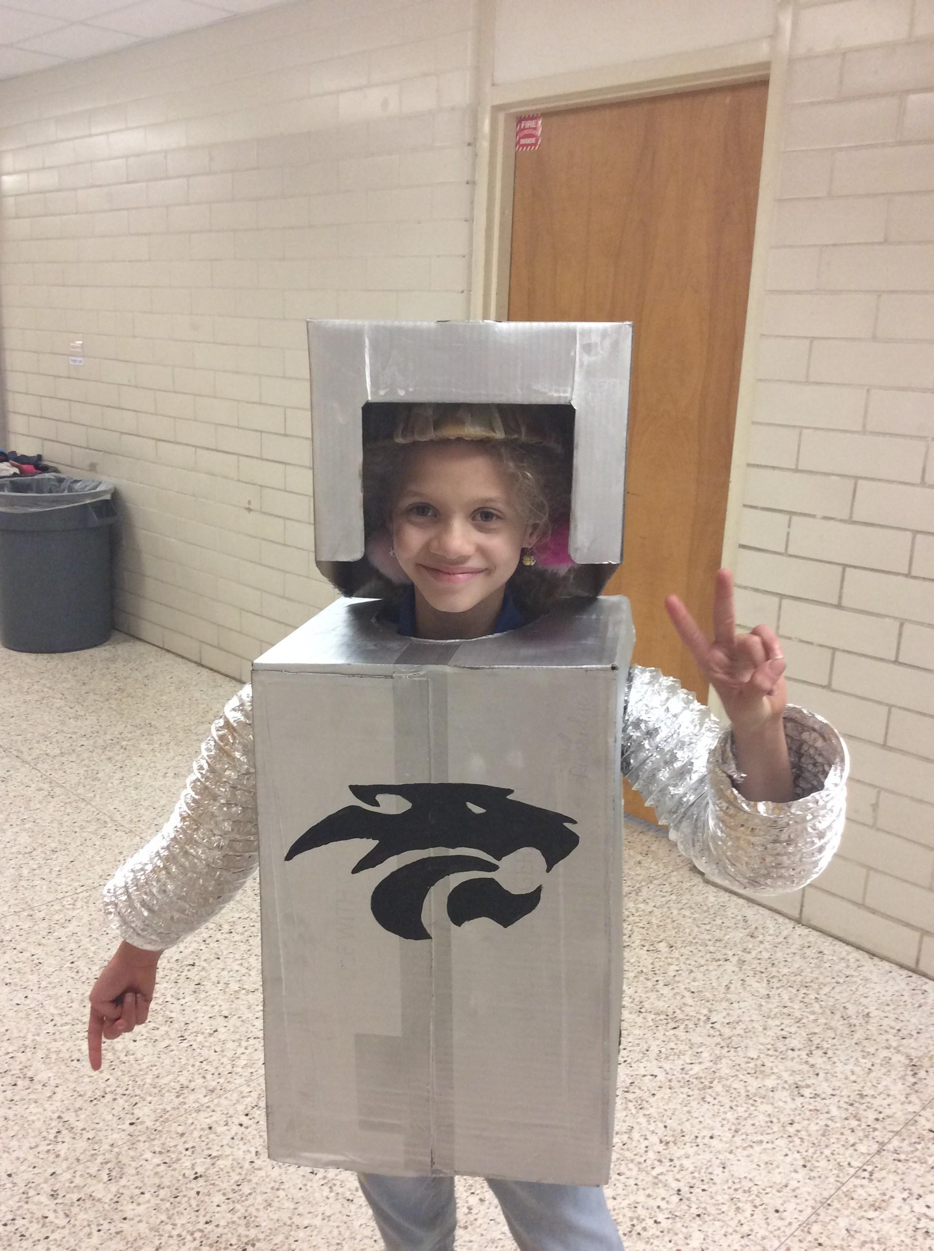 Robotics student posing