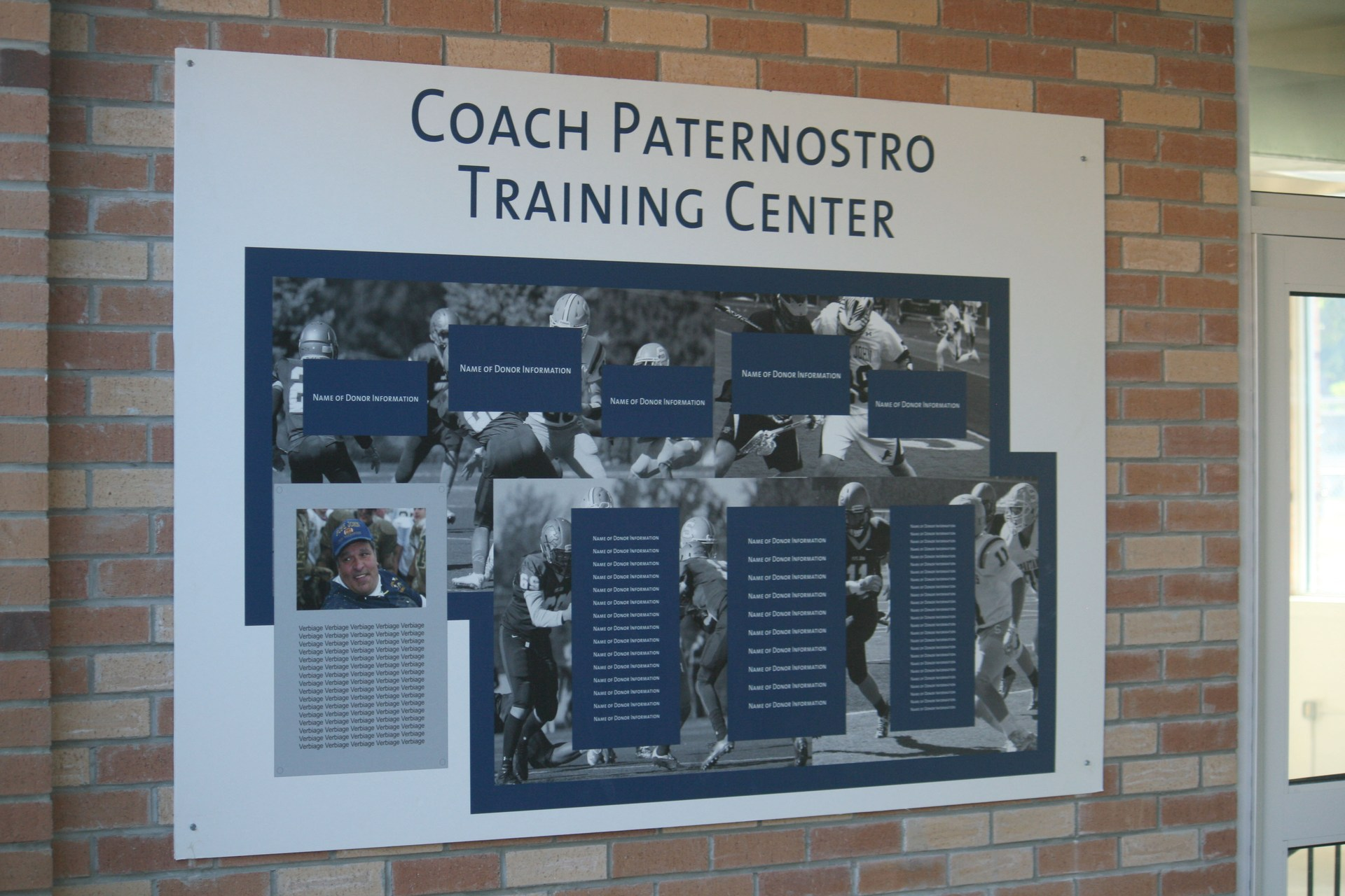 Coach Paternostro Training Center sign