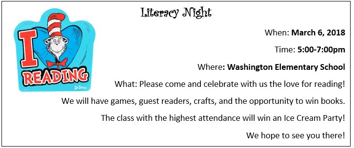 Literacy Night Is Coming Up! Thumbnail Image