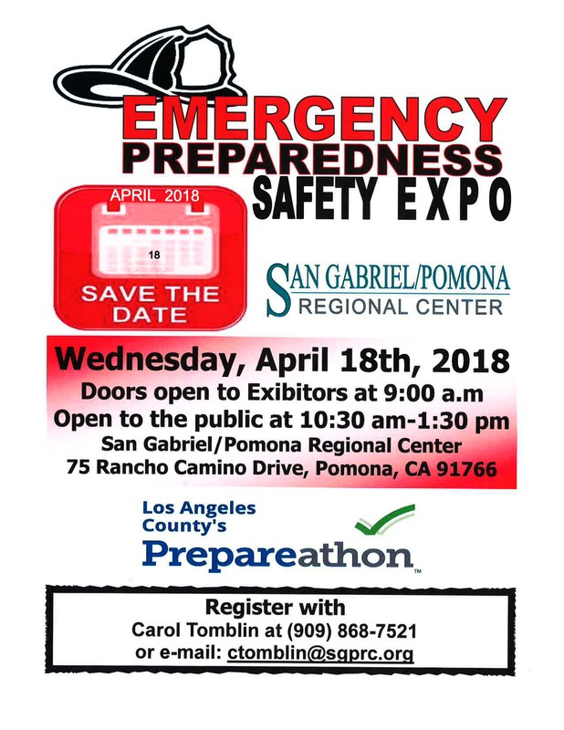 Safety Expo Flyer- Picture of a firefighter's helmet