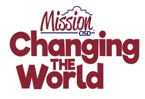 District logo with the slogan, Changing the World