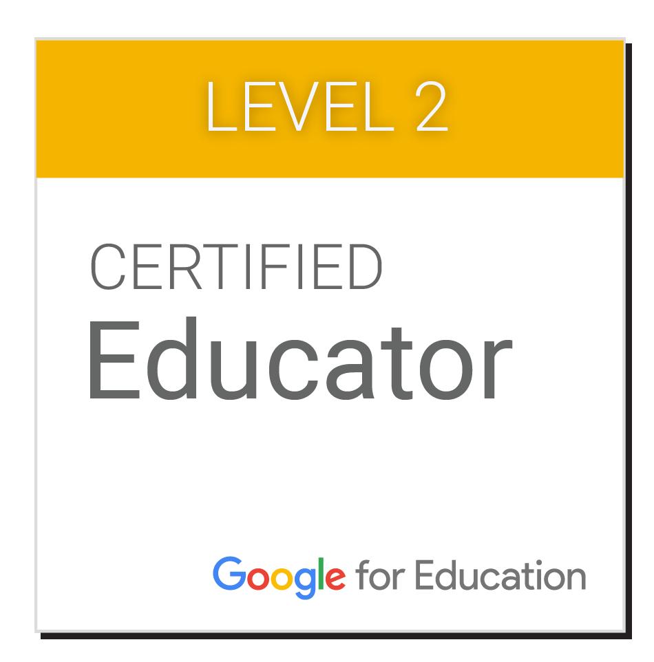 Google Certified Educator Level 2 badge