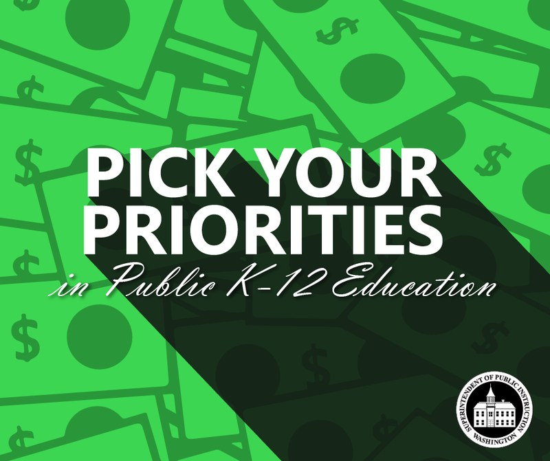 OSPI Pick Your Priorities Graphic