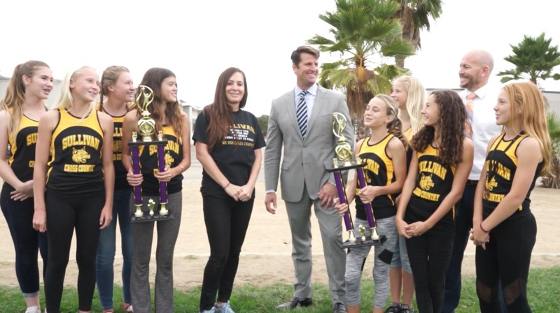 Mr. Jones and SMS Girls Cross Country team