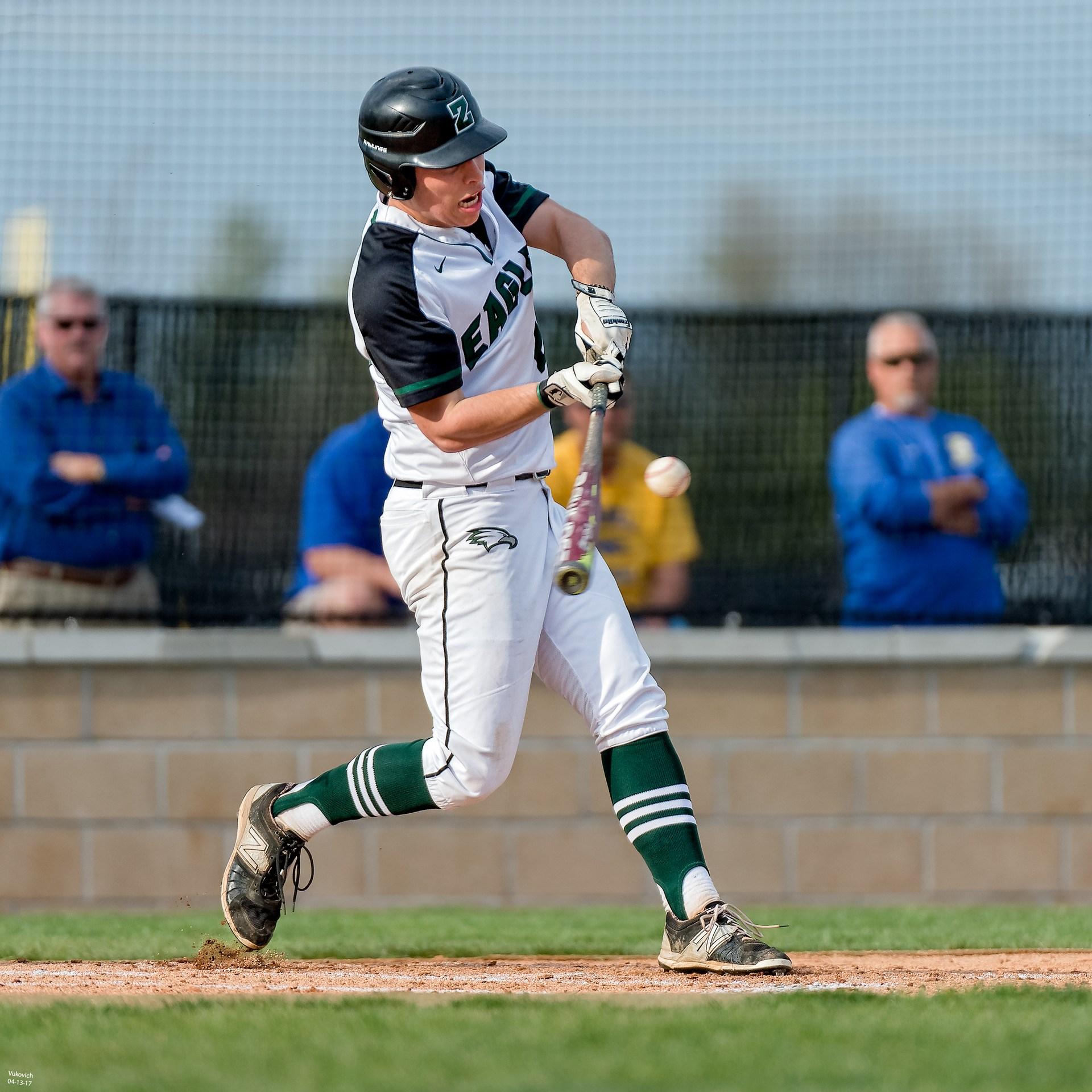 Junior Kyle Callahan action photo