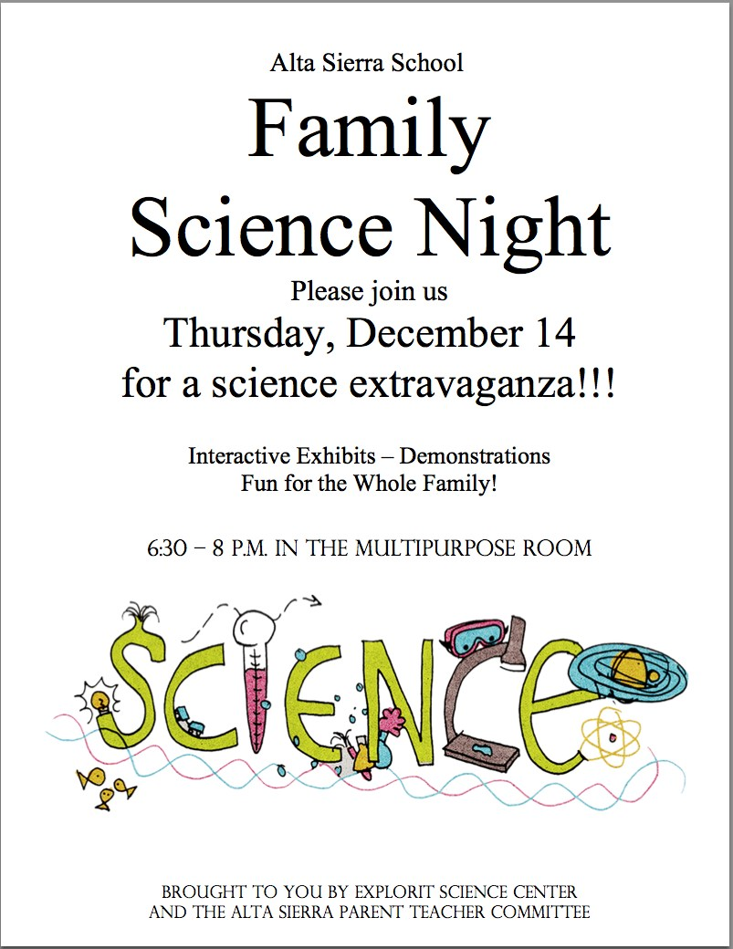 Science Night Flier