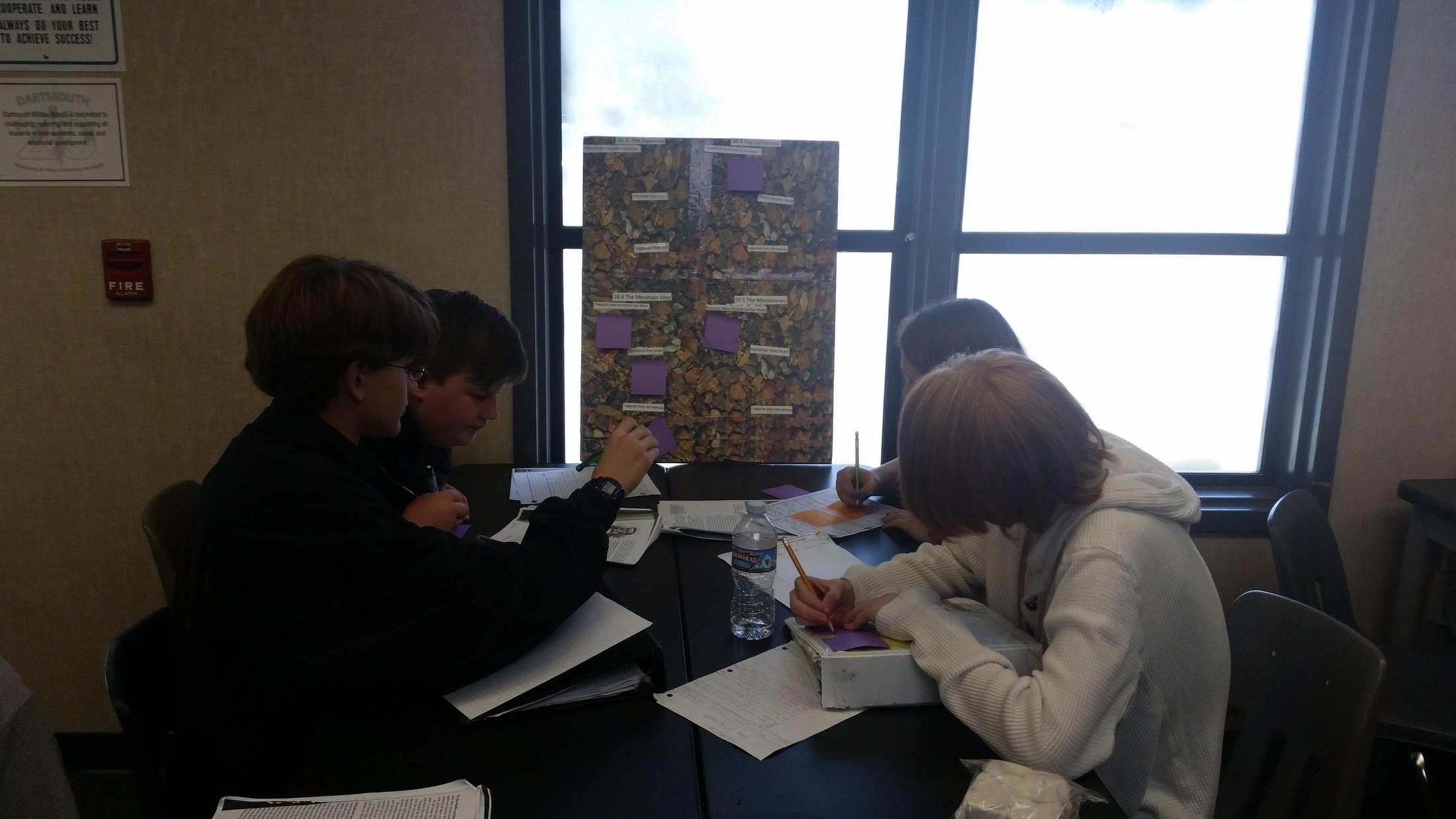 Dartmouth AVID student work examples