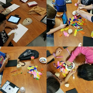 students working stem activities