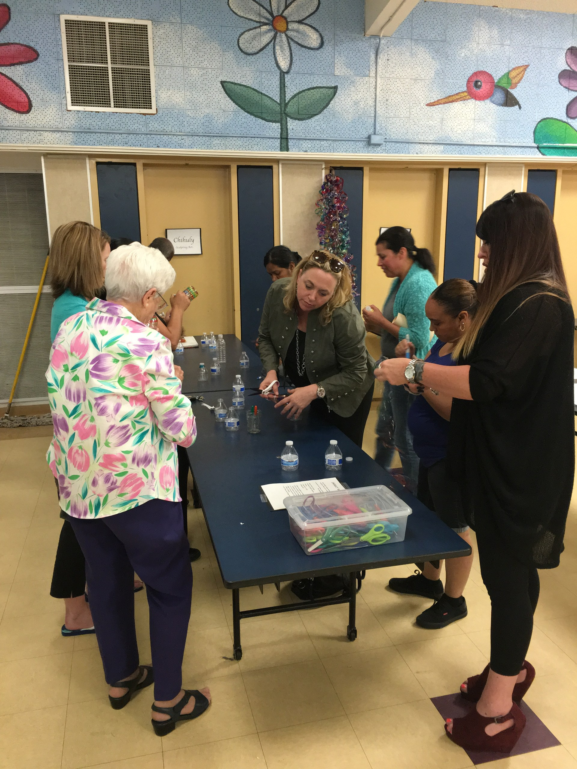Parents experiencing STEAM at Raymond ASES