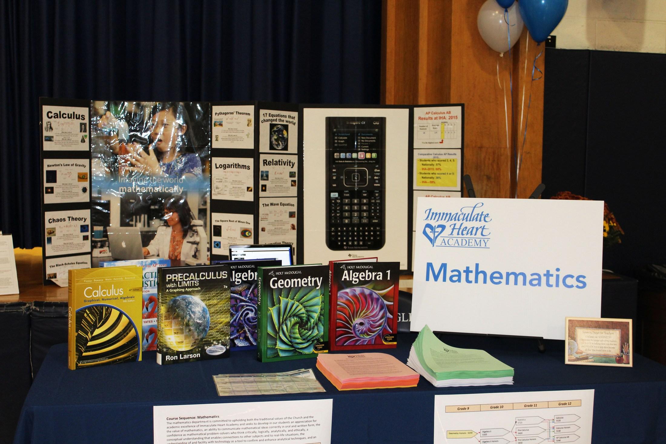 Mathematics - Miscellaneous - Immaculate Heart Academy