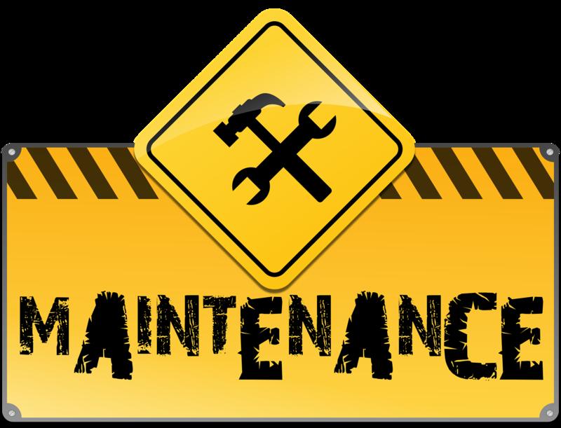 Maintenance Road Sign Image