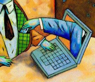 Illustration to represent phishing