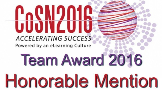 COSN 2016 Honorable Mention Team Award
