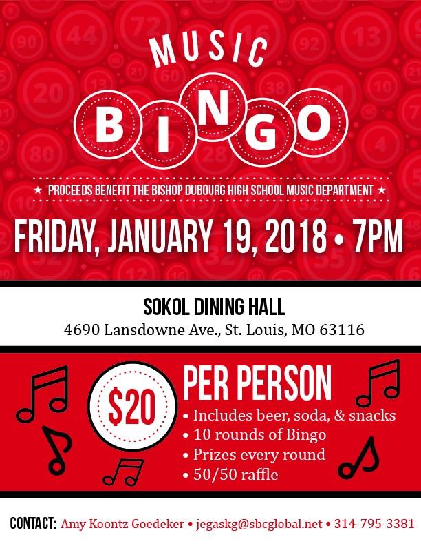 music bingo flyer