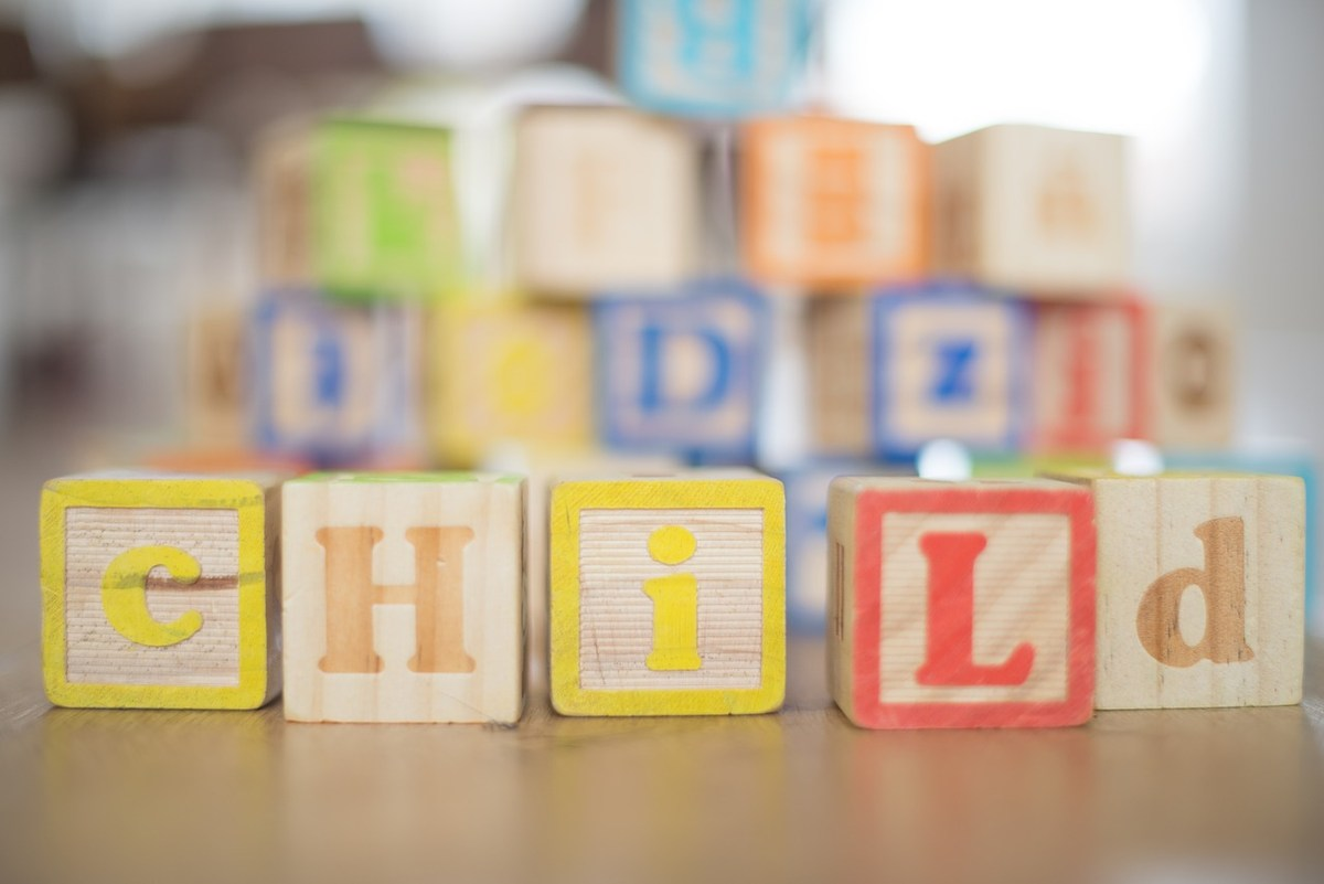 Blocks spelling child