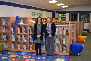MPES Principal and Media Specialist in School's Media Center
