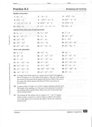 algebra 2 problem solving