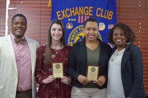 McComb High School Students receive Exchange Club awards.