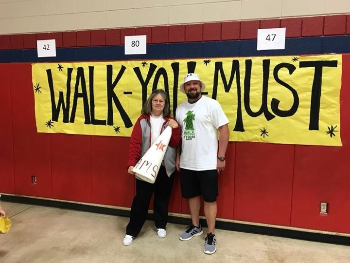 Mr. James and Mrs. Rutledge At the Walk-a-thon