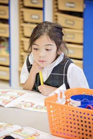 Kindergarten student at All Saints Catholic School Norwalk